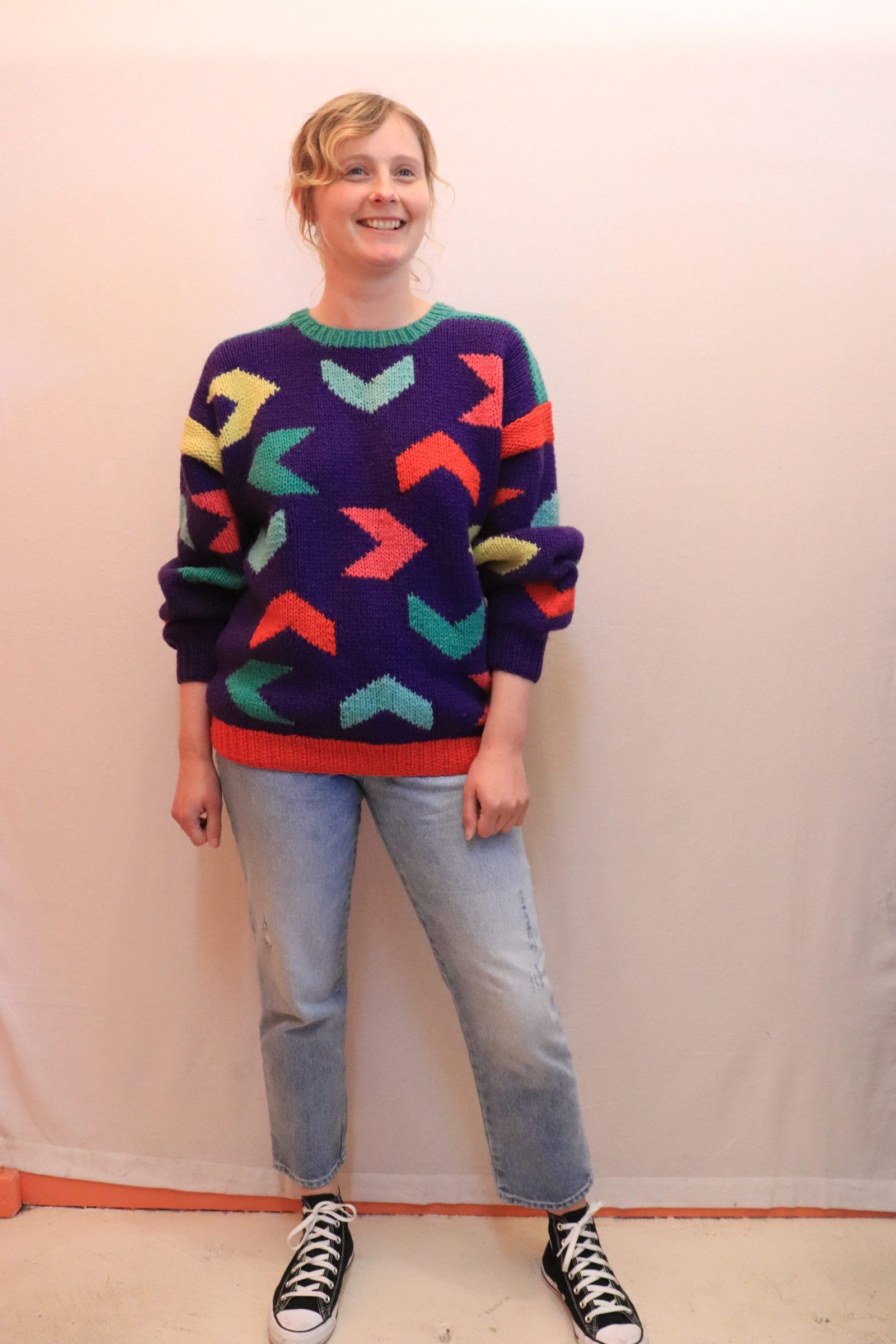 80s/90s wool knitted jumper