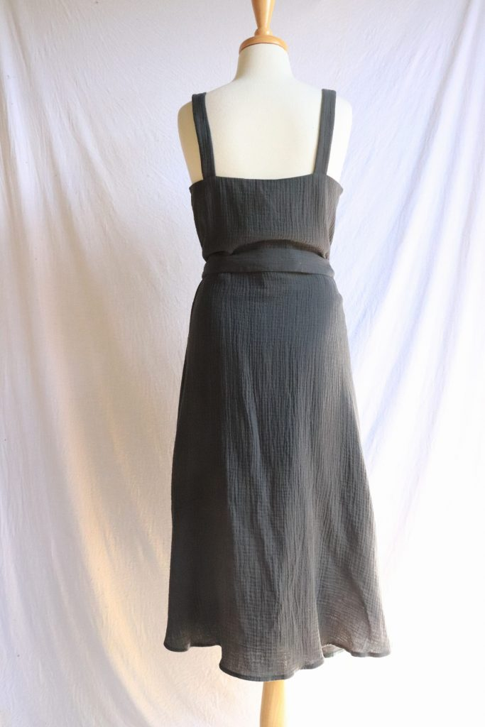 Charcoal grey button up dress