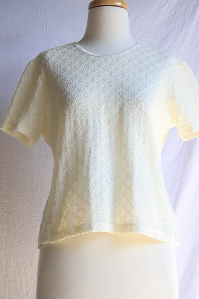 90s cream knitted top