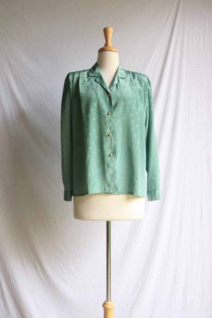 80s green blouse