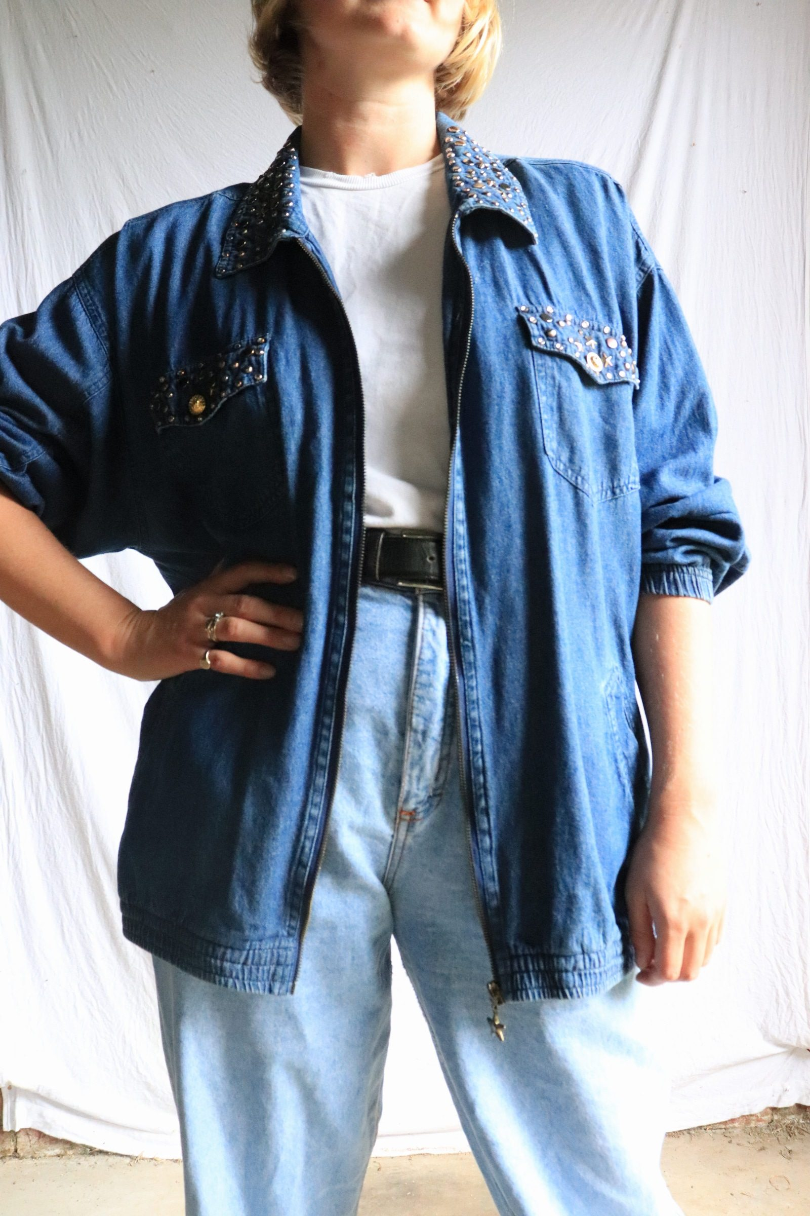 80s denim shirt/light jacket