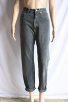80s/90s dark grey high waisted jeans
