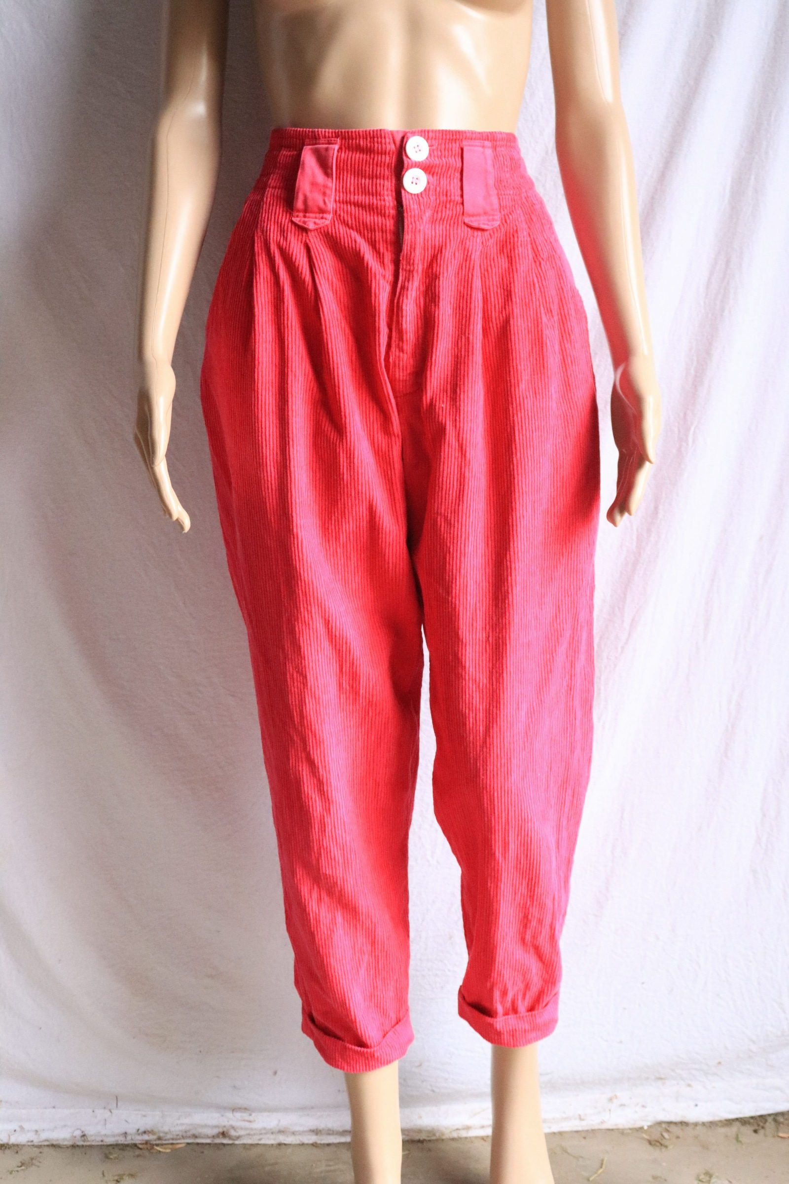 RESERVED: 80s pink corduroy pants