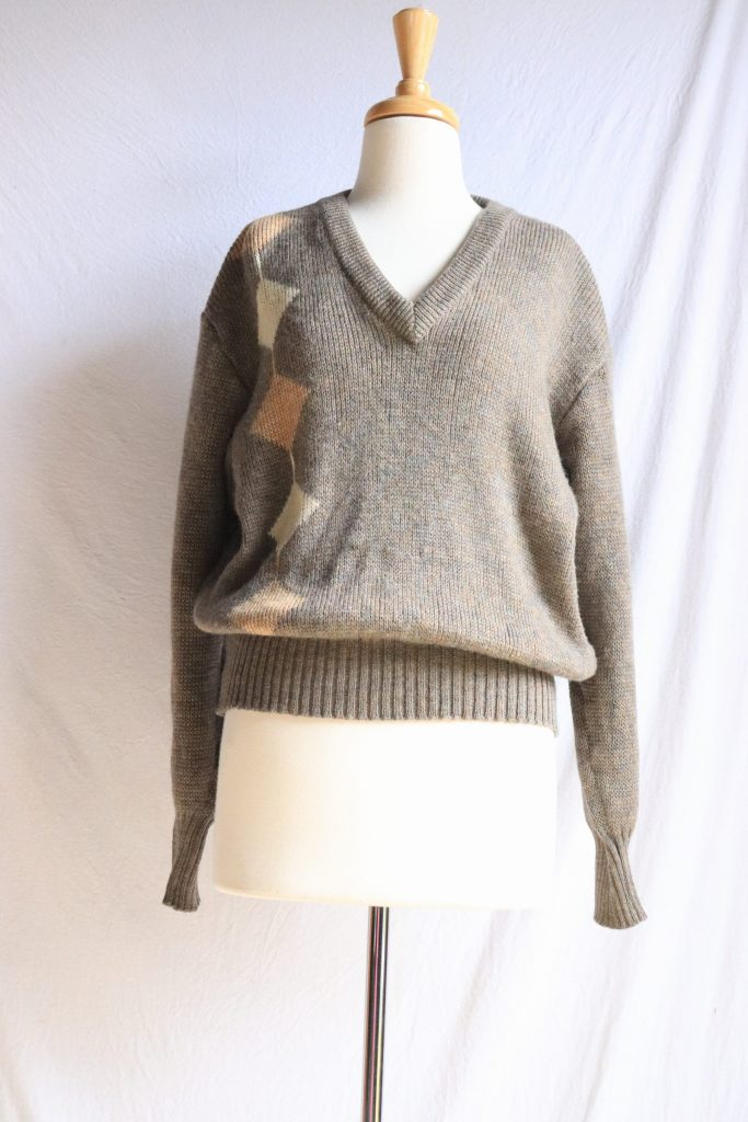 80s brown wool jumper