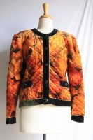80s floral quilted jacket