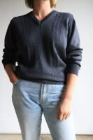 80s grey knitted wool jumper