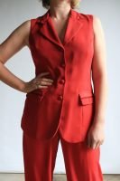 90s red pant suit