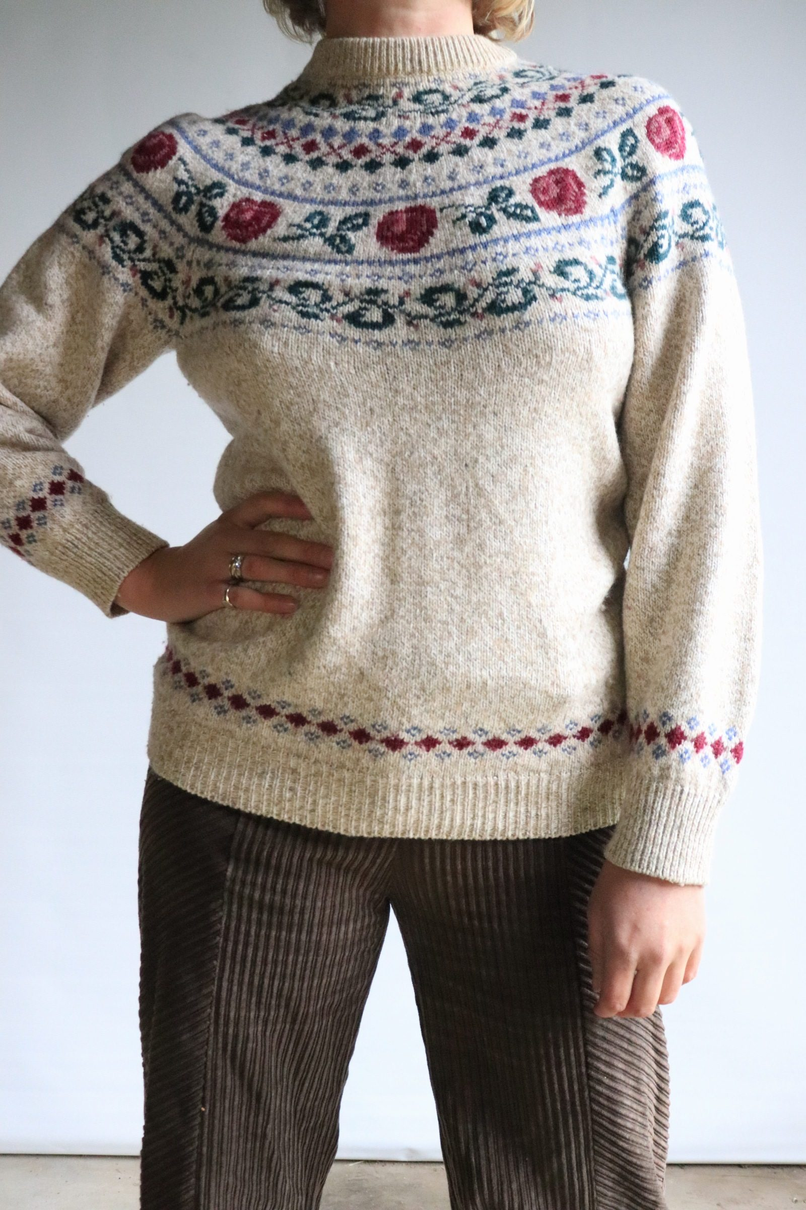 Nordic knitted jumper