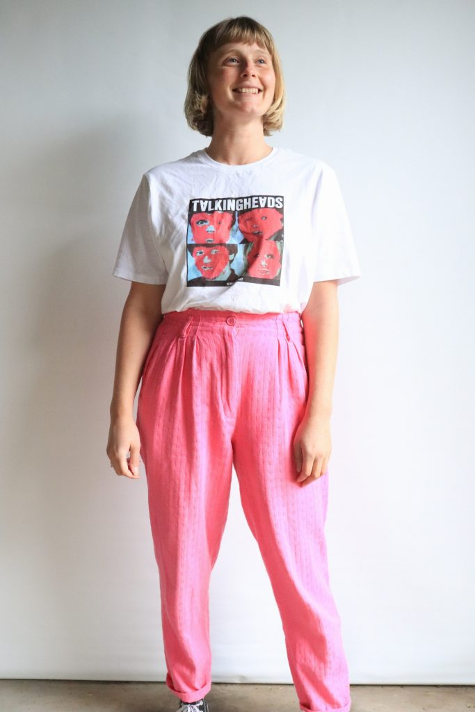 80s high waisted pink cotton pants