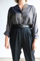 90s long sleeved striped blouse