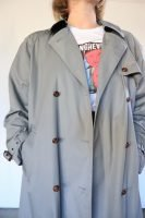 80s grey trench coat
