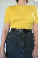 80s yellow knitted top