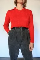 70s red knitted jumper