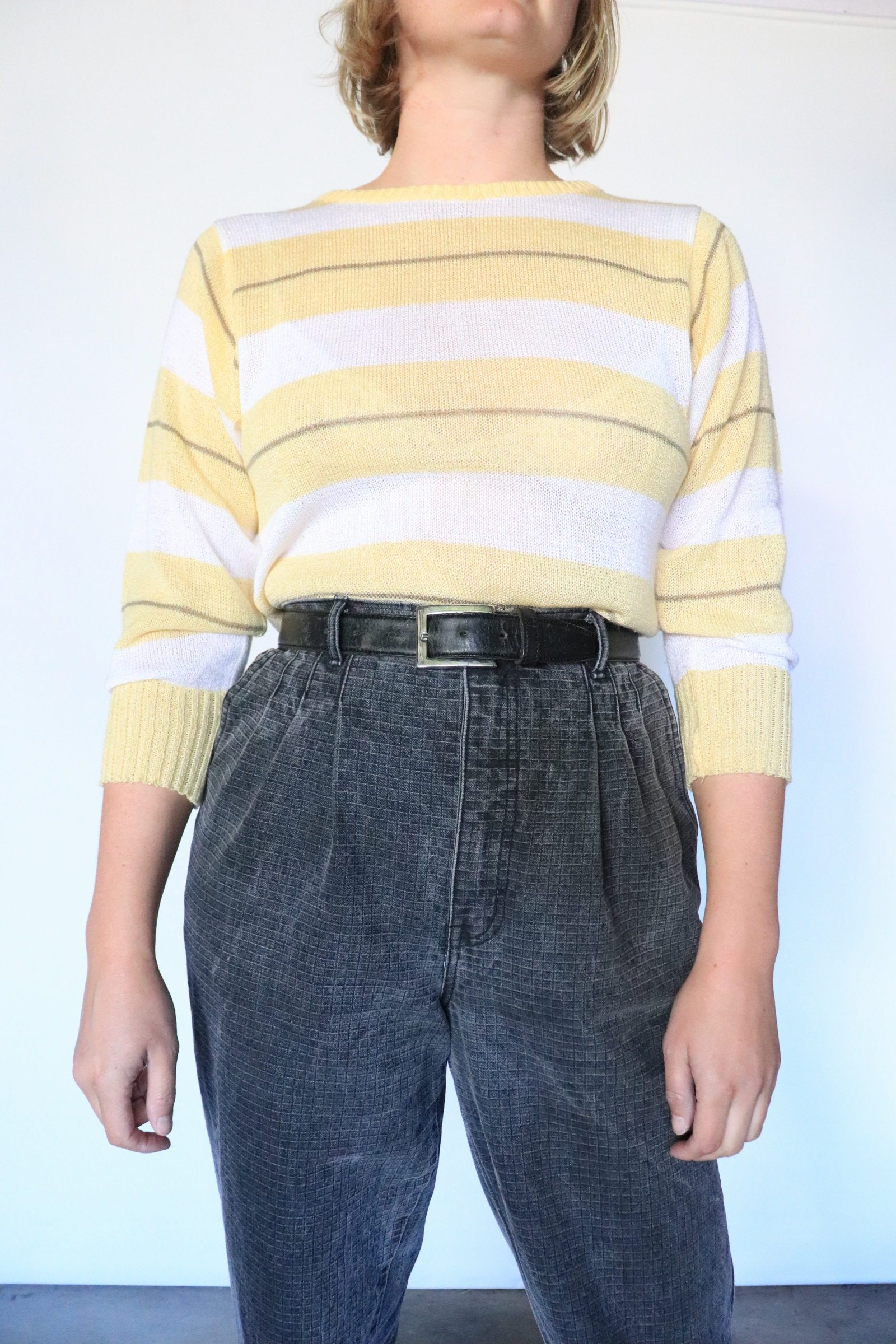 80s yellow knitted jumper