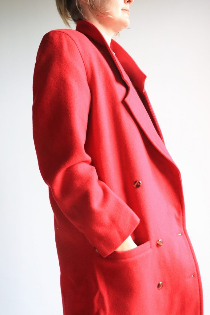 80s Geoff Riddell wool coat