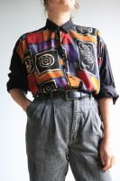 90s long sleeved patterned shirt