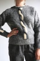 70s/80s grey wool jumper