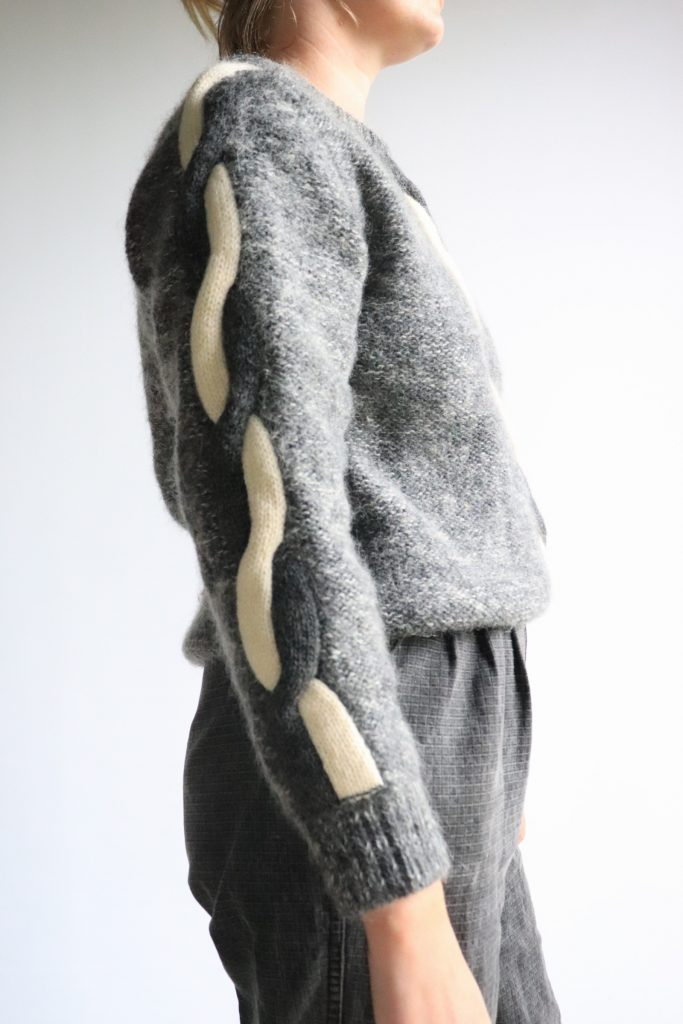 70s/80s grey wool knitted jumper
