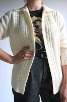 cream hand knitted cardigan