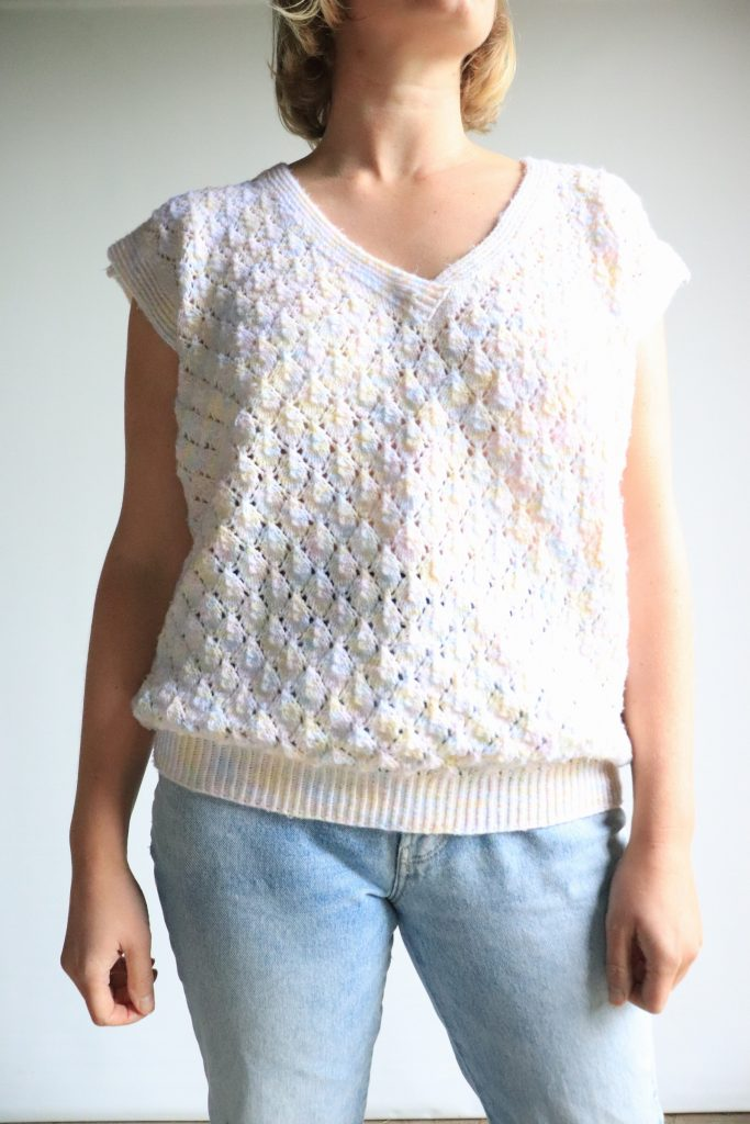80s hand knitted vest