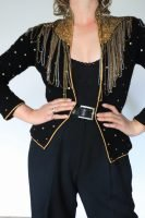 80s black and gold sequinned jacket