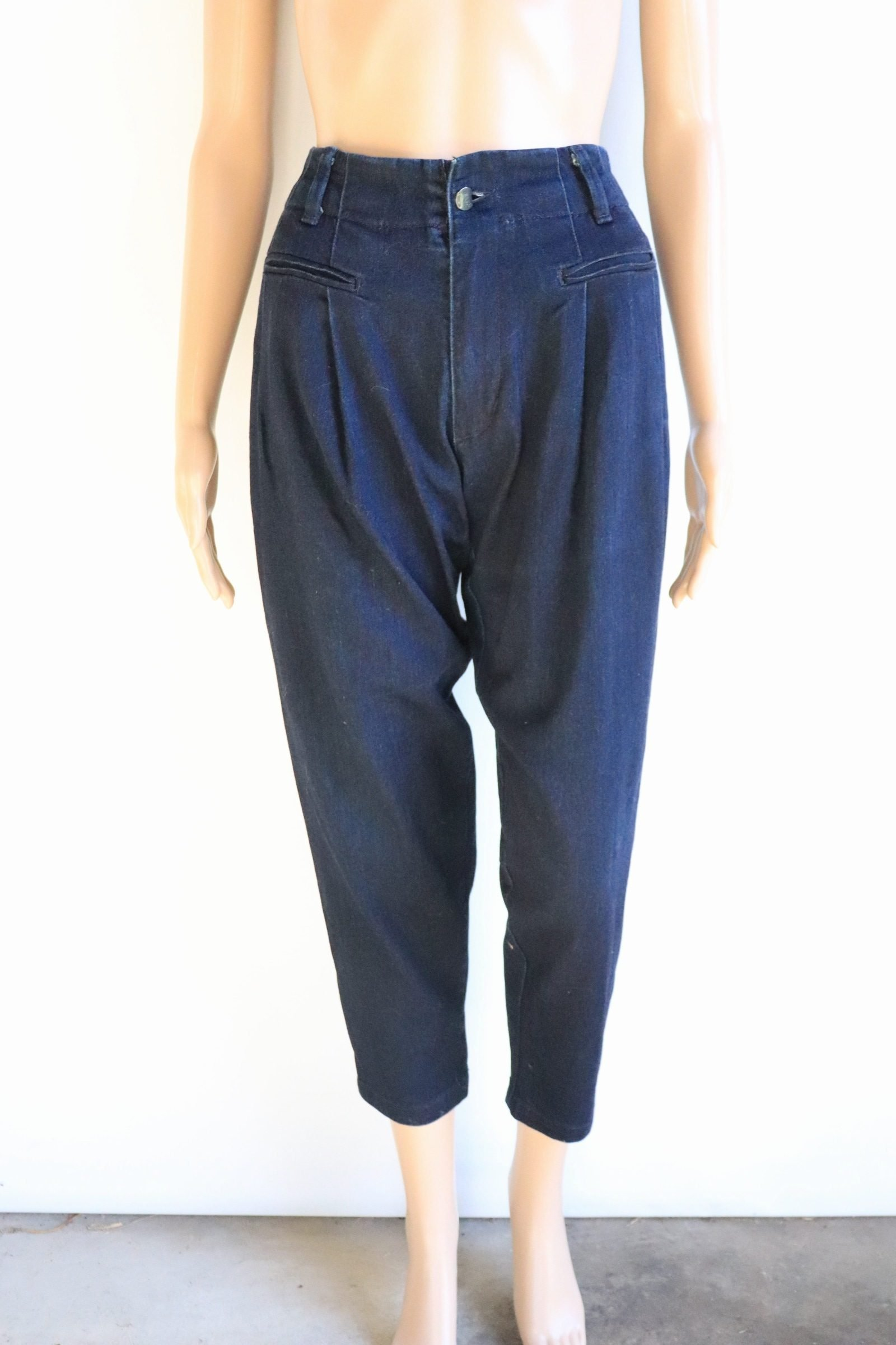 Lee navy high waisted jeans