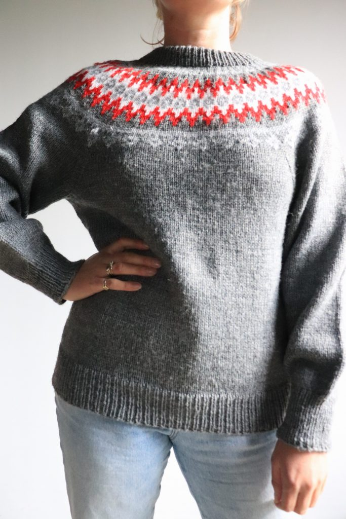 70s/80s Nordic style hand knitted jumper