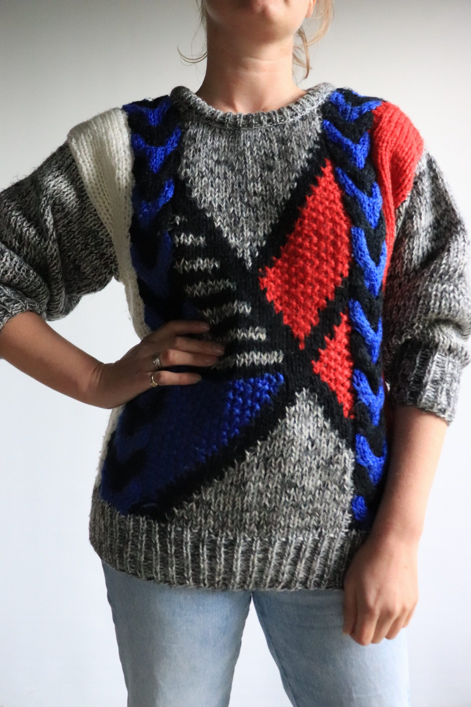 80s knitted jumper