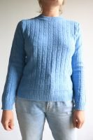 80s pastel blue knitted jumper