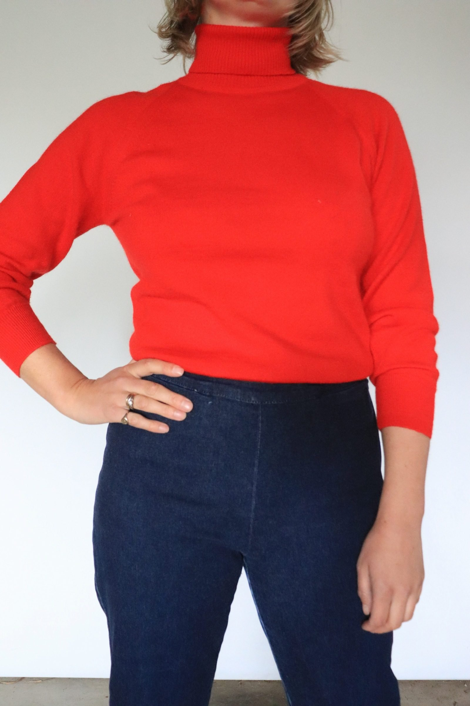 90s does 50s navy fitted jeans