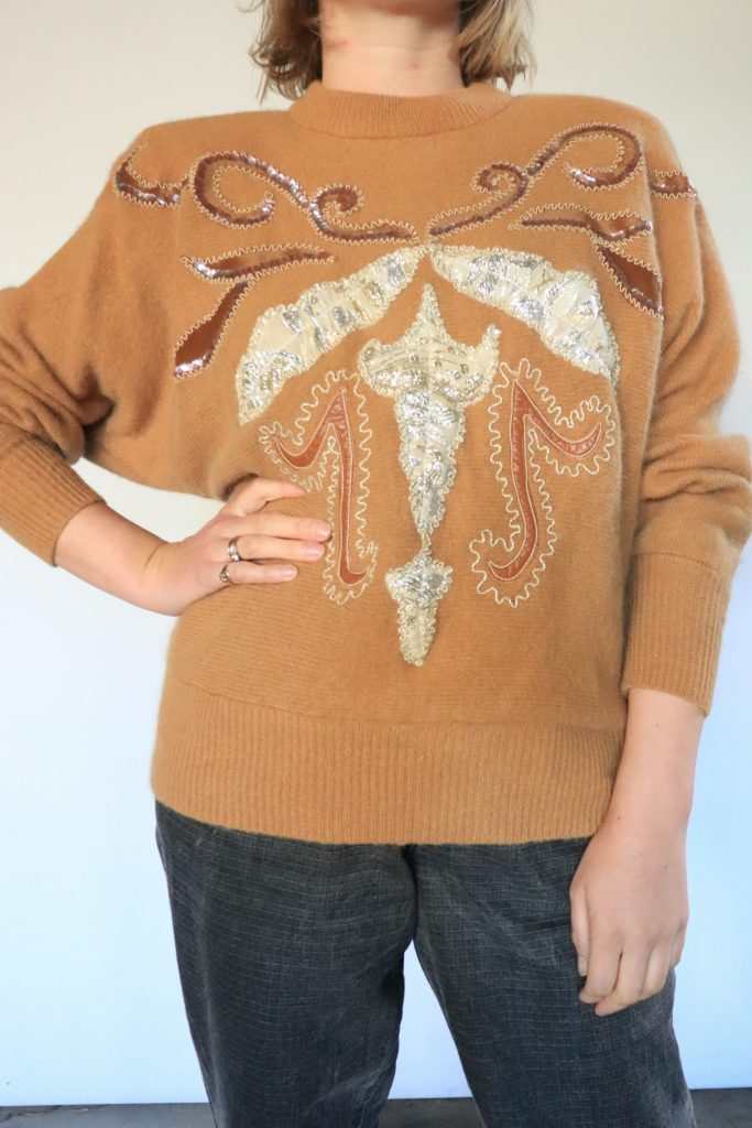 80s angora knitted jumper