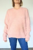 90s pink pastel wool knitted jumper