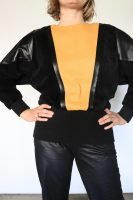 80s leather jumper
