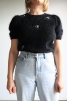 80s angora knitted top