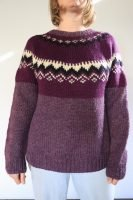purple nordic hand knitted wool jumper