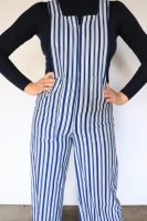 70s striped navy and white jumpsuit
