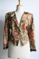 90s floral tapestry cropped jacket