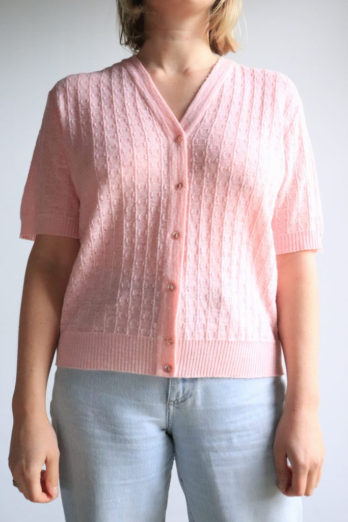 80s pink knitted top