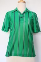 70s green striped top