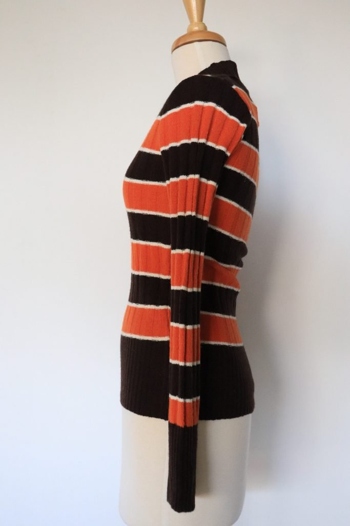 90s brown and orange knitted top