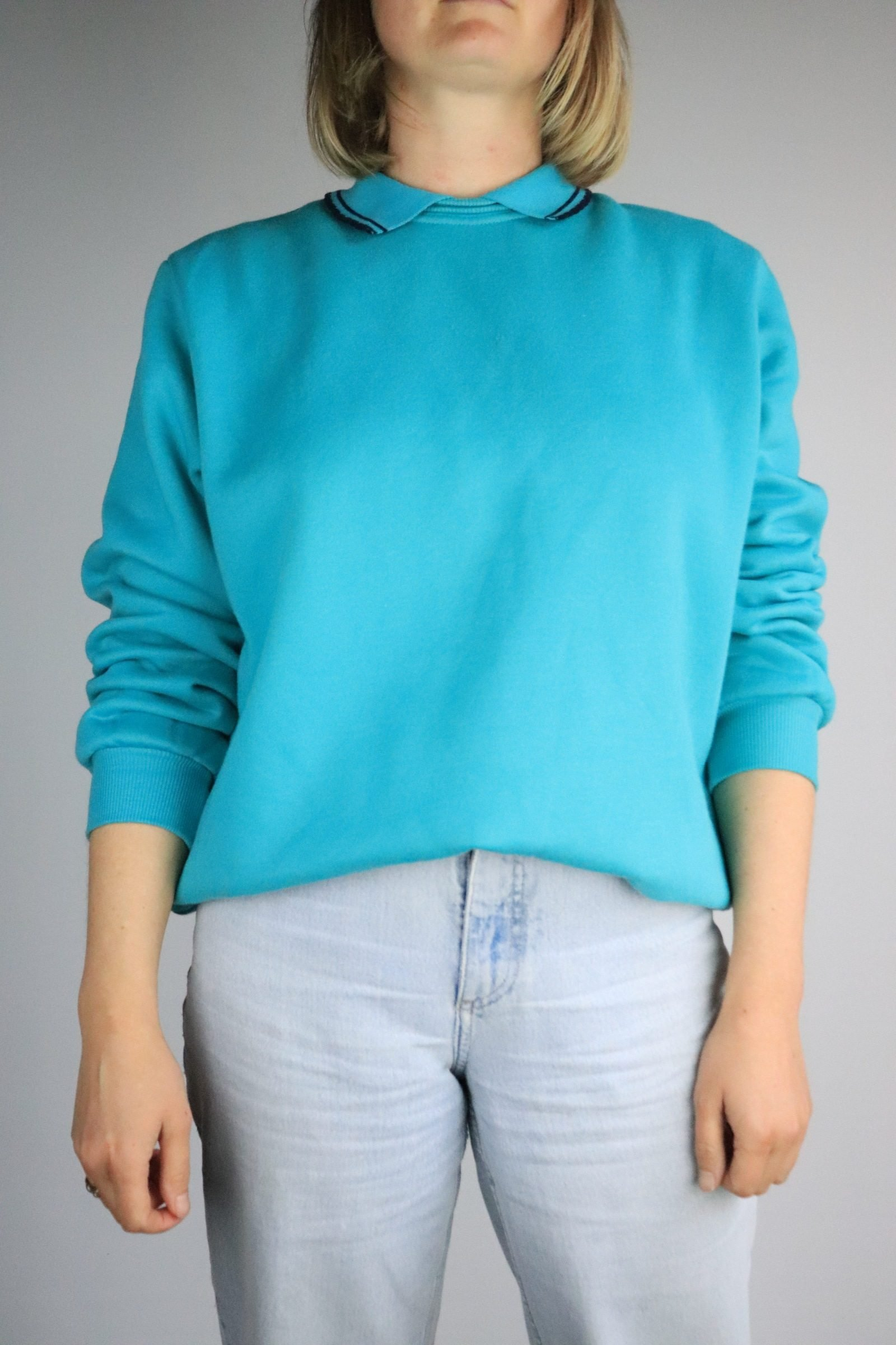 Early 90s teal jumper